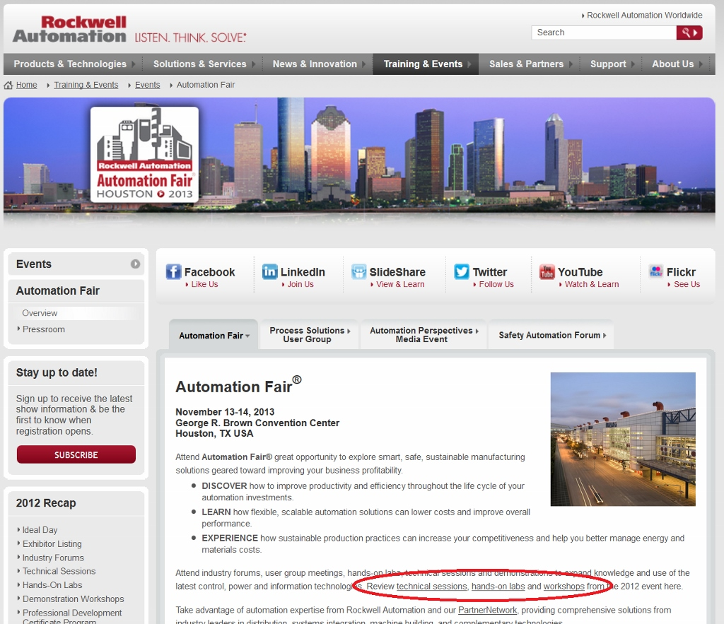 Automation Fair Home Page